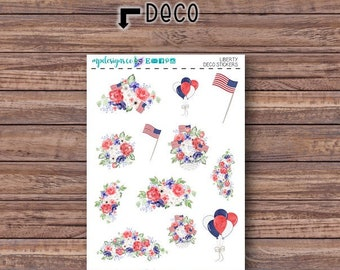 Liberty Deco Stickers | ECLP | Happy Planner | Recollections Planner