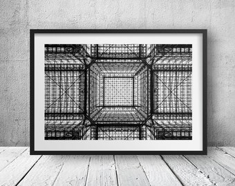 Net, Jacob K. Javits Convention Center - New York Photography, Black and White, Architecture, Wall Art, NYC, Fine Art Print, Urban Art