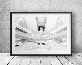 WTC Transportation Hub Oculus - New York Photography, Black and White, Architecture, Wall Art, NYC, Fine Art Print, Urban Art, Home Decor