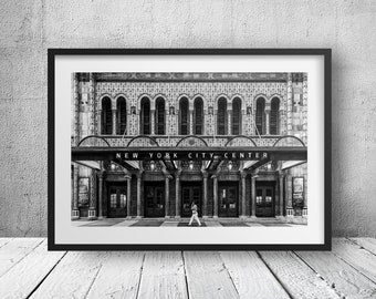 New York City Center Limited Edition 2/50 - New York Photography, Black and White, Architecture, Wall Art, NYC, Fine Art Print, Urban Art, H