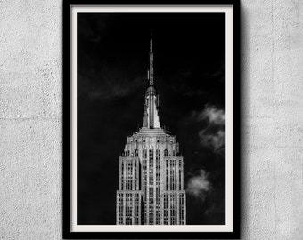 Empire State Building Limited Edition 1/50 - New York Photography, Black and White, Architecture, NYC, Fine Art Print, Urban Art, Home Decor