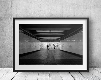 Canal Street Subway Limited Edition2/50 - New York Photography, Black and White, Architecture, NYC, Fine Art Print, Urban Art, Home Decor
