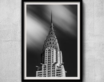 Chrysler Building 2019 - New York Photography, Black and White, Cityscape, Art Deco, Wall Art, NYC, Fine Art Print, Urban Art, Home Decor
