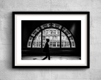 Chelsea Girl, 620 Avenue of the Americas - New York Photography, Black and White, Architecture, Wall Art, NYC, Fine Art Print, Urban Art