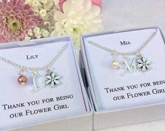 Flower girl gift, flower girl bracelet, flower girl charm bracelet, personalised bracelet, personalised gift, wedding jewellery, flower girl