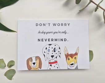 Funny dog birthday card