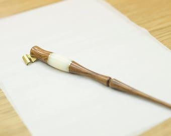 Wooden Oblique Pen Holder, White X Light Brown, New Arrival, Handmade, Stylish,