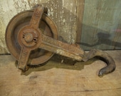 Antique Pulley, Industrial Cast Iron Pulley, chain pulley,