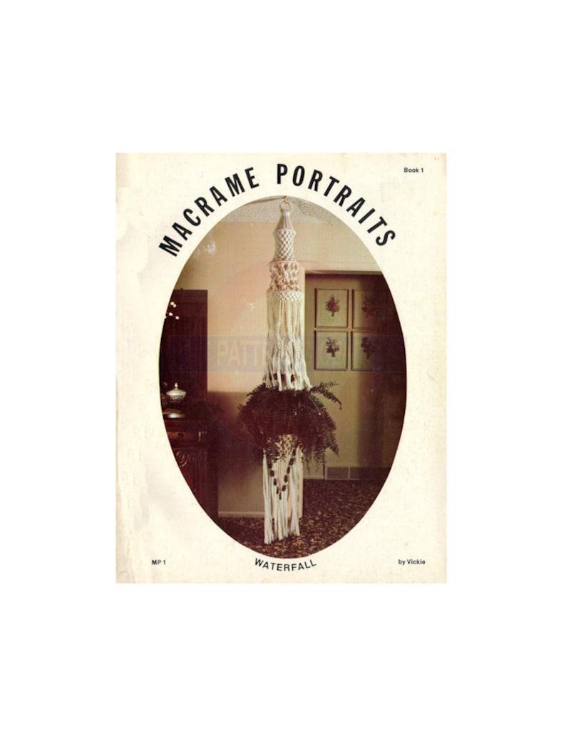 Macrame Portraits Book 1 - Vintage Macrame Patterns Instant Download PDF 24  pages