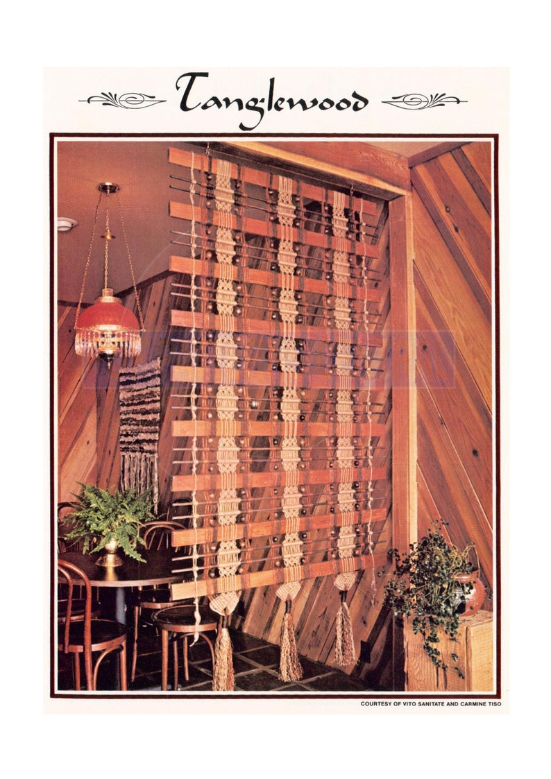 Super Vintage 1970S Tanglewood Room Divider Pattern Instant Interior Design Ideas Tzicisoteloinfo