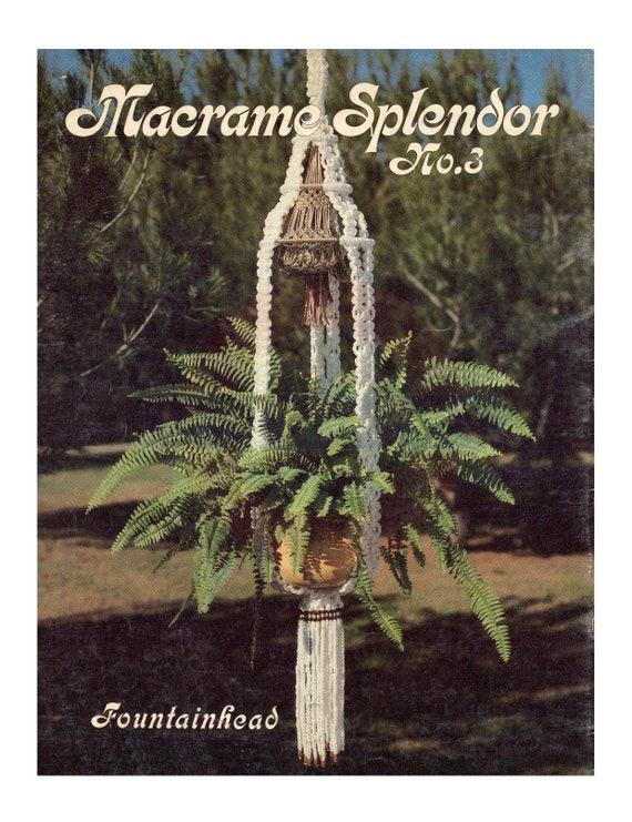 Vintage 70s Macrame Rhapsody Plant Hanger Pattern Instant Download PDF 2 pages