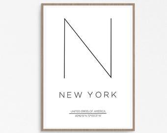 New York City Print, New York Poster, New York City Art, New York City, NYC Print, New York Print, City Print, New York, Poster NYC,