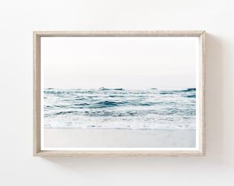 Ocean Print, Ocean Wall art, Coastal Decor, Ocean Art, Sea Printable, water print, Ocean Printable, digital print, wave print, large Art