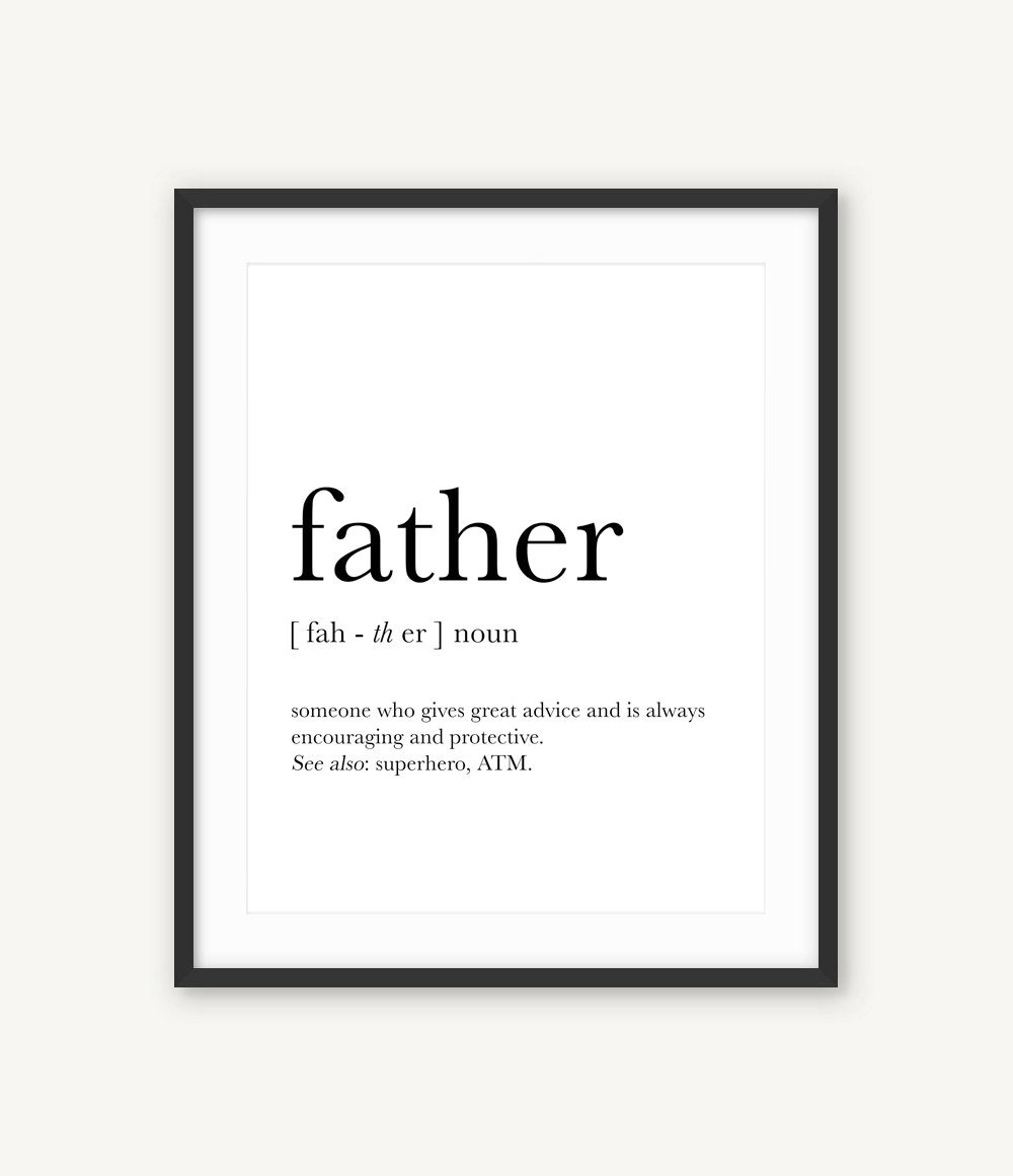 Fathers Day Gift Father Definition Gifts for Dad Father