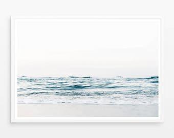 Ocean art Print, Ocean Wall art, Blue sea wall art, Ocean Art, Sea Printable, water print, Ocean Printable, digital print, wave print, large