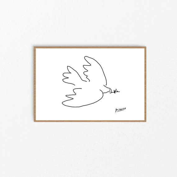 Picasso Print Picasso Wall art Pablo Picasso Dove of Peace | Etsy