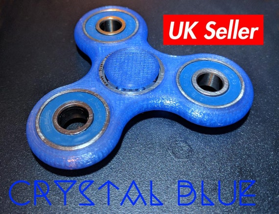 Fidget Spinner Toy 3D Printed Crystal Colors