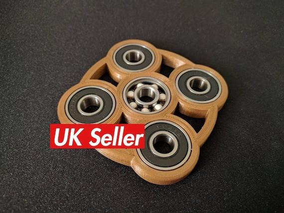 Coolest Fidget Hand Spinner Black Ball Bearing Brass//Bronze Cage Pack of 4