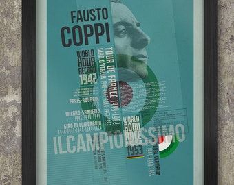 The Fausto Coppi Palmarès Poster