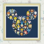 50% OFF SALE,Disney Cross Stitch Pattern, Disney Mickey cross stitch pattern Chart ,Needlecraft Needlework PDF Instant Download,S095