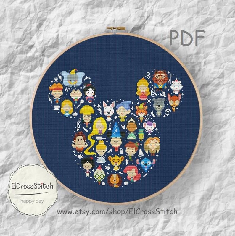 50% OFF SALEMini Pixel Cartoon Hero Cross Stitch PattrnMouse image 0