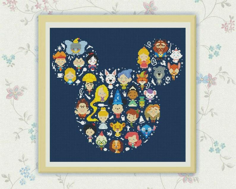 50% OFF SALEDisney Cross Stitch Pattern Disney Mickey cross image 0