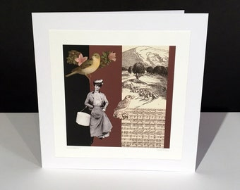 Serendipity 1. Fine Art Card. Vintage Themed Handmade Card. Any Occasion Card.