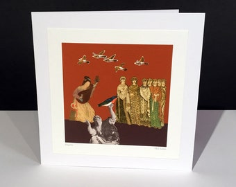 Angelis. Fine Art Card. Vintage Themed Handmade Card. Any Occasion Card.