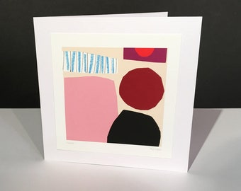 Vespers. Fine Art Card. Abstract Themed Handmade Card. Any Occasion Card.