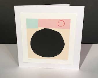 Intrepid. Fine Art Card. Abstract Themed Handmade Card. Any Occasion Card.