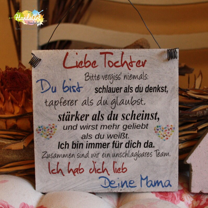 Shabbystyle Shield-Dear daughter-Your Mama image 0