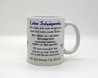 Cup / Dear son-in-law -we