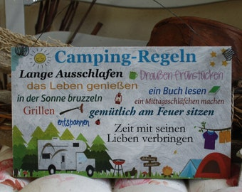 ShabbyStyle Shield-Camping Rules (RV)