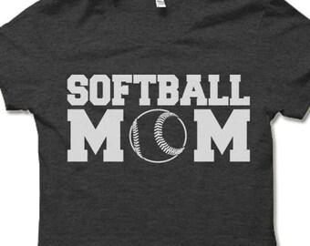 e566c1a7 Softball Mom Shirt. Funny T-shirt for Mom. Softball Game Shirt. Mothers Day  Gift Idea.