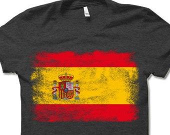 Amdesco Spain Flag Spanish Toddler Raglan Shirt