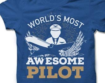 Pilot Shirt. Pilot Gift. Aviation Gift.