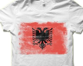 1e36686bb Albanian Flag T Shirt
