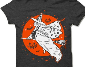 7cc2590dce36 The Witch s Moon Halloween T Shirt. Funny Halloween Gift.