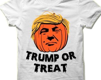 7f5f7e4d Donald Trump Or Treat Halloween T Shirt. Funny Halloween Gift. Trump Shirt. Halloween  Shirt Men Women.