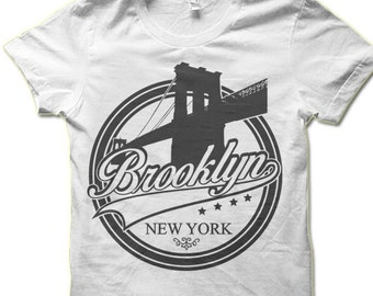Brooklyn New York T-Shirt. Brooklyn Bridge Tee Shirt.