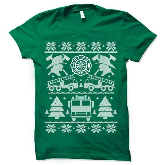 Firefighter Christmas Shirt.Firefighter Christmas T Shirt Cool Firefighter Gift Firefighter Shirt Christmas Shirts Tshirt Tee Xmas Gift Ideas