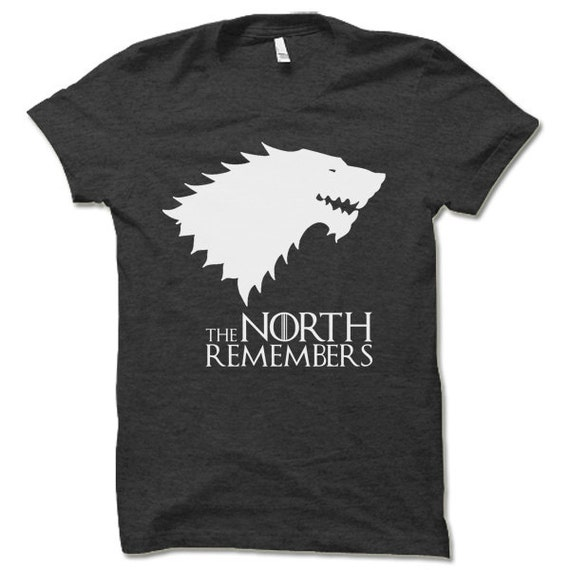 uk availability cheap sale wholesale The North Remembers T Shirt. Cool Game of Thrones Shirt Winterfell Winter  is Coming Tee Shirt.