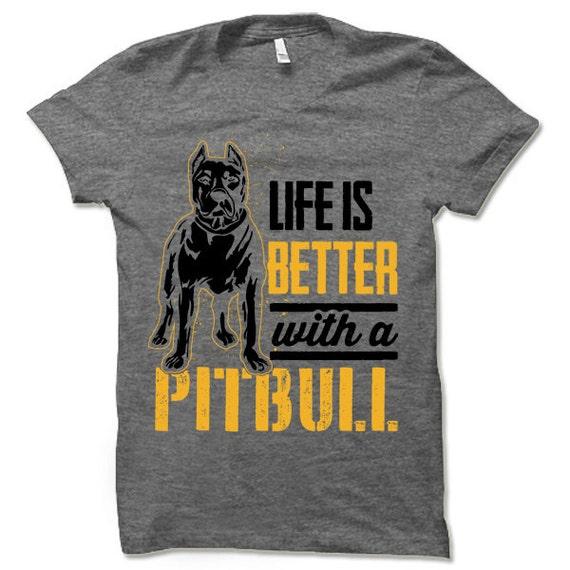 LLiYing-D Pit Bull Funny Christmas Adult Mens Fashion Long Sleeve Sweater T Shirts