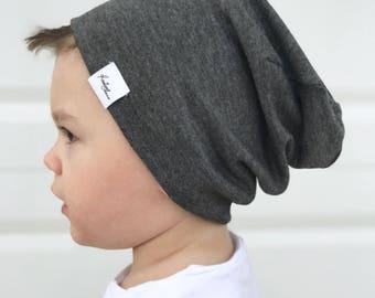 9604d15eaa3 Grey beanie  Boy slouchy beanie  baby slouchy beanie  grey slouchy beanie   toddler beanie  hipster hat  kids slouchy beanie