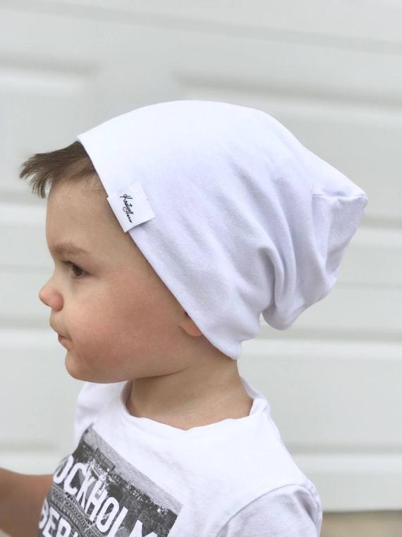 White slouchy beanie  baby boy slouchy beanie  boy beanie   877b579d0bb