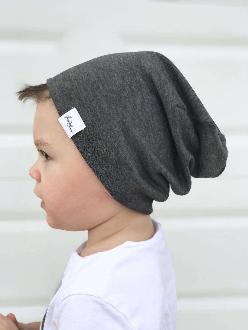 d26425c5c8b7a Grey beanie  Boy slouchy beanie  baby slouchy beanie  grey