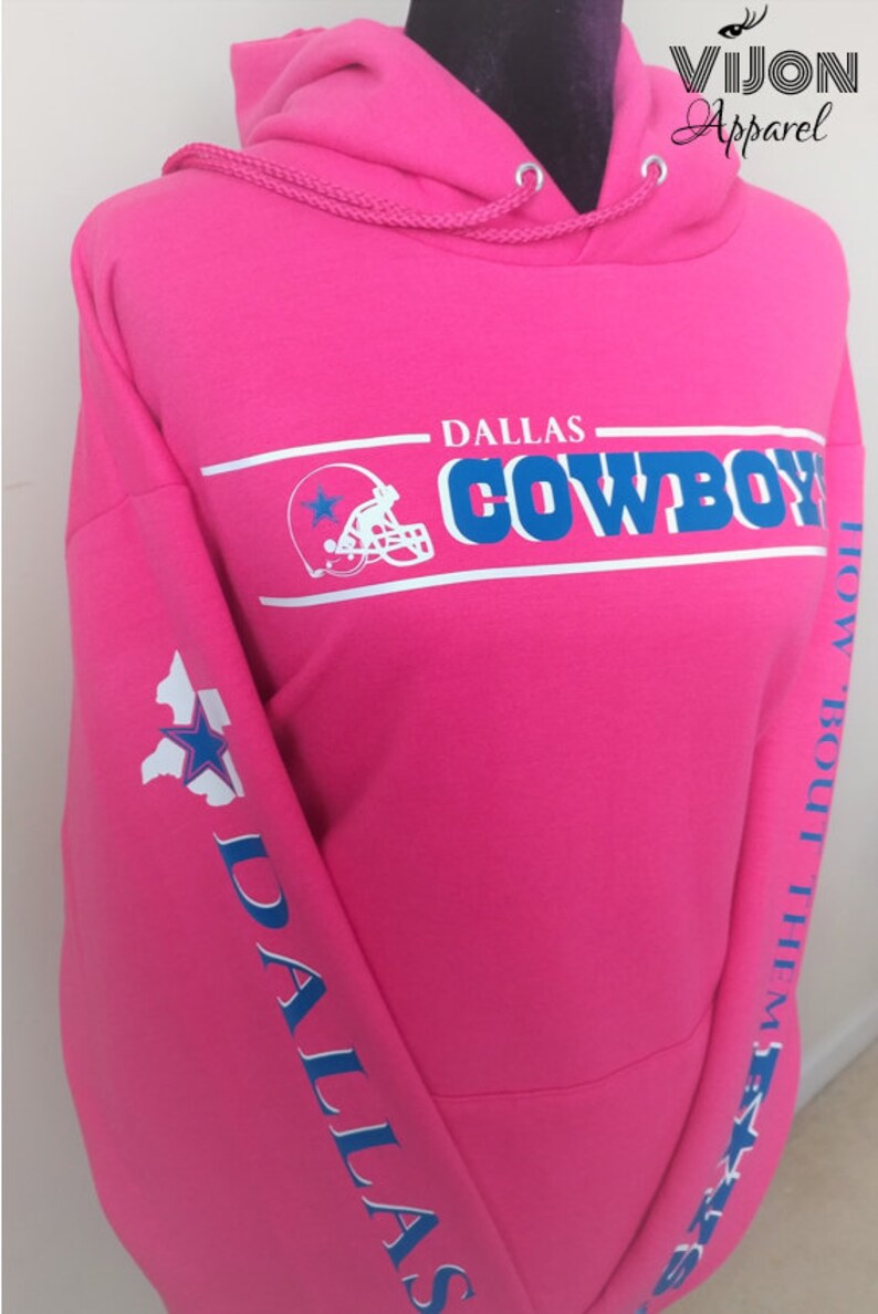 best service fb6f9 c3723 Cowboys Breast Cancer Awareness Hoodie