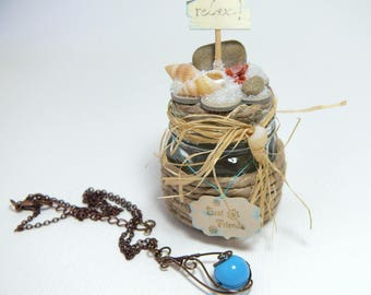 Necklace + Ornament with beach