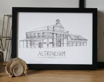 England Market Stall fine art print The Flowersmith United Kingdom Manchester Altrincham