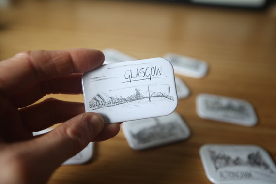Glasgow Skyline Magnet
